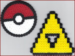 Pokeball+Triforce Bead Sprites by johwee