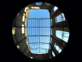 Ruins Tall Building Fisheye 01 by earth-mover