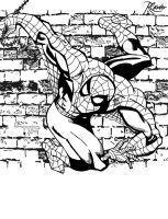 Wall Crawler Line Art by RCarter