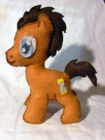Time Turner (Doctor Whooves) Plushie! by superkitten1990