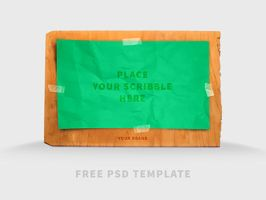 Free PSD Template Scribble Board Mock-UP by Designslots