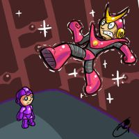 Mega Man 2: QuickMan by TurnThePhage