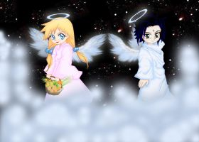 Angels on a Starry Night by HunterK