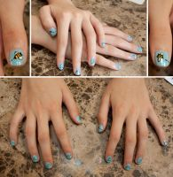 Bumble Bee Nail Art by elvaniel