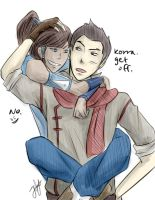 Makorra: Get off. by peachringring