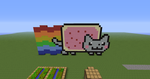 Minecraft: Nyan cat! by Agent-Minnesota