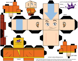 Aang cubeecraft from Avatar The Last Airbender by SKGaleana