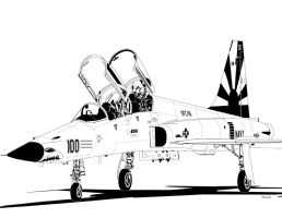 Northrop F-5F Tiger II by bowdenja
