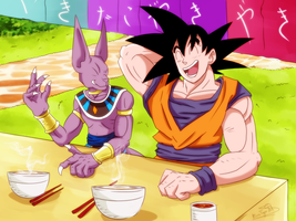 Goku y Bills by RinaTiger-Art
