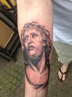 jesus tattoo by WillemXSM