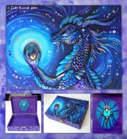 Purple Dragon Treasure Chest by TrollGirl