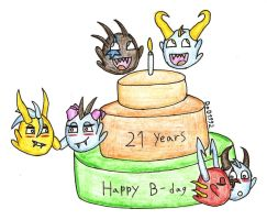 Happy 21 years SC by DragonofDarkness1992