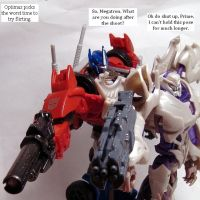 TF Prime Optimus x Megatron - Photo Op Flirt by ThunderCougar