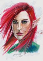 Elf (2 hrs watercolor paint) by Angelstorm-82