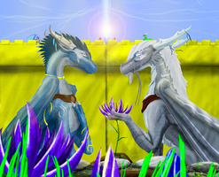 :REQ: Meefala and Orhasso - The Flower by VaylerSilv