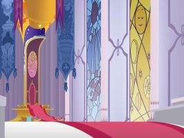 Canterlot Castle - Throneroom by GatesMcCloud