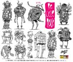12 Junk and Trash Monster Robot Design Concepts by STUDIOBLINKTWICE