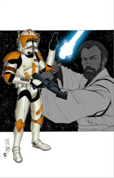 ...CC-2224 and Obi-Wan... by thesealord