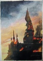 WIP Burning Hogwarts: Day 3 by goldenConnpass