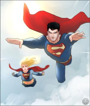 Superman and Supergirl by mullerpereira