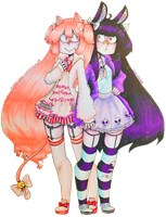 Funky-Intuition Cartoon Couple #1 by x-CherryHime-x