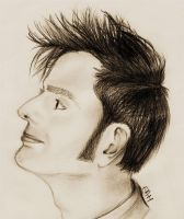 David Tennant Profile Sketch. by tenArt