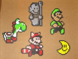 Mario bros beaded goodguys 1 by zaghrenaut