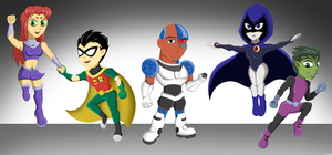 Mini Titans by TeenTitansMan
