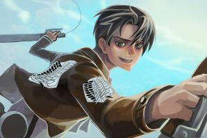 Rivaille - Attack On Titan by SheCow