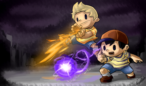 Ness and Lucas by wtfisalinh