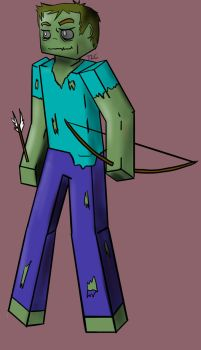 Minecraft Zombie Drawing by Nepos-Rigas
