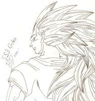 Goku_Super Saiyan 3 by bluepelt