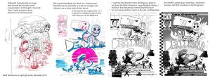 Dead dinosaurio pinup process by mikey-c