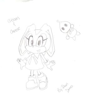 Cream The Rabbit and cheese by dawnthebest123
