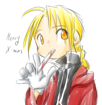 Ed with candy cane by darkc