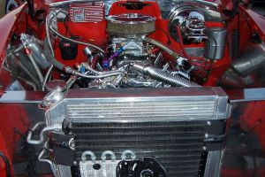 Classic Car Motor Engine by paintresseye