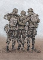 Band of Brothers Three Soldier by RachelKaiser