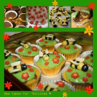 Bee Cakes for Molly by joannastar