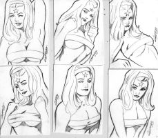 Octobriana Sketch card set by TeamAmazing