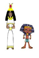 A pharoah and his queen by srebak
