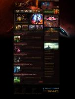 Aqua Flame CMS Default Layout Based on WoW Site by id820