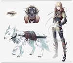 Guardian and Wolf by Pinlin