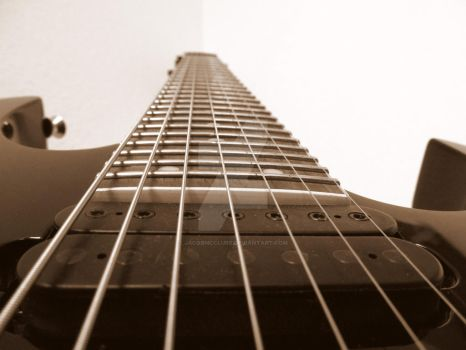 Sepia Tone 7 String Guitar by JacobMcClure