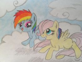 Flutterdash Fillies: Playing on the Clouds by XquiizitGam3r