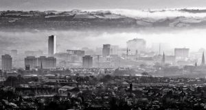 Mist over the City.... by BELFASTBAP