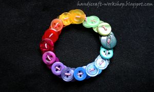 Button bracelet by Panna-Kot