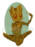 Chibi Commission - I am Groot by Alexiel-VIII