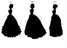 Victorian Silhouettes-1857-67 by lady-of-crow