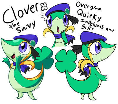 Clover the Snivy .:Ref:. by TerraTerraCotta