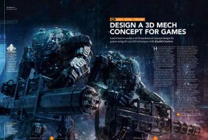 3d World Magazine 185 September 2014 Mech Tutorial by sancient